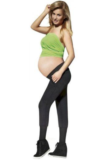 Těhotenské legíny Veronica 200 DEN černé