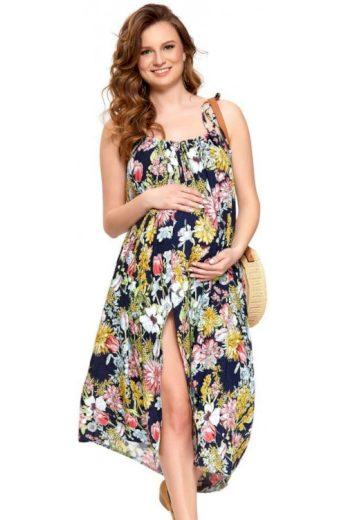 Těhotenské šaty Leona květinové