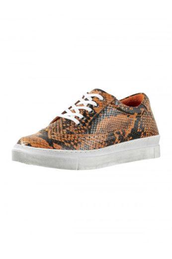 Kožené dámské sneaker s hadím vzorem, Andrea Conti