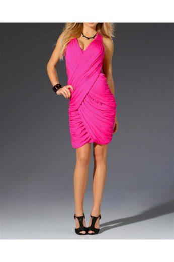 Zavinovací šaty LIPSY v barvě pink