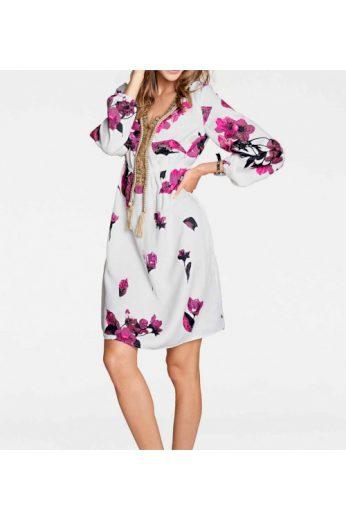 Šaty s potiskem květin boho styl, Rick Cardona