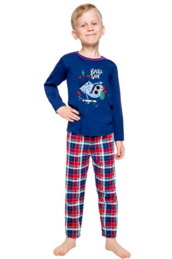 Klučičí pyžamo Leo tmavě modré
