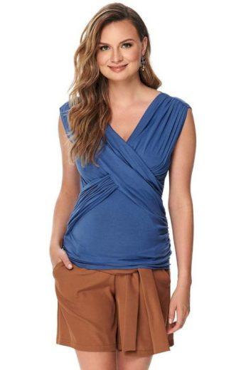 Luxusní mateřské tričko Barray modré