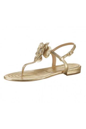 Dámské letní kožené zlatě zbarvené sandálky dianette (vel.40 skladem)