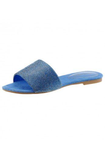 Značkové luxusní kožené pantofle se štrasem, JEFFREY CAMPBELL (vel.41 skladem)