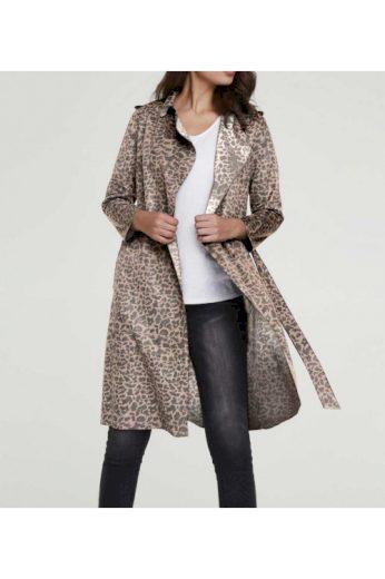 Lehký kabát ve velurovém vzhledu s leopardím vzorem, HEINE (vel.42 skladem)