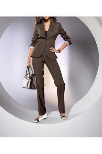 Dámský elegantní kalhotový kostým, Patrizia Dini (vel.38 skladem)