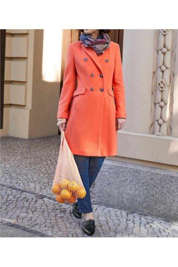 Luxusní dámský vlněný kabát s kašmírem, HEINE (vel.38,46 skladem)
