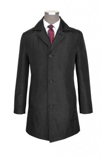 Pánský černý kabát mírně vatovaný do deště a do větru, CLASS INTERNATIONAL