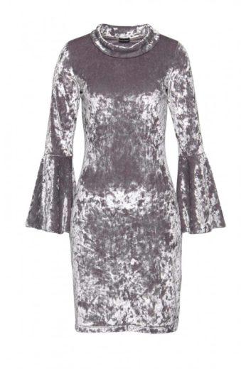 Luxusní šedé sametové šaty, Bruno Banani
