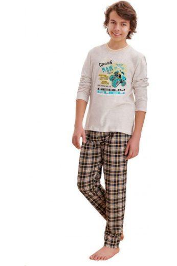 Chlapecké pyžamo Leo cross béžové