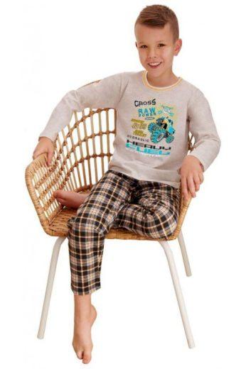 Klučičí pyžamo Leo cross power béžové