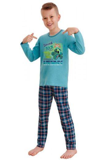 Klučičí pyžamo Leo cross power modré