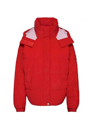 Značková dámská červená kordová prošívaná bunda, LEE