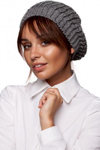 Žebrovaná pletená slouchy čepice baret, MOE