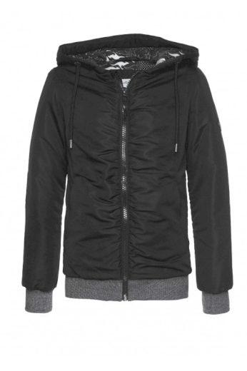 Značkový černý dámský vatovaný bluzon, bunda bluzon, KangaROOS
