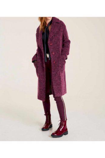 Vlněný flaušový zimní kabát s podílem alpaky, HEINE (vel.42,44 skladem)