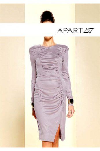 Luxusní žerzejové nabrané šaty, APART