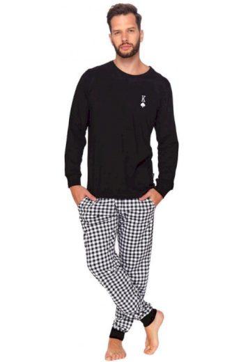 Pánské pyžamo Pikový král černé (vel.XXL skladem)