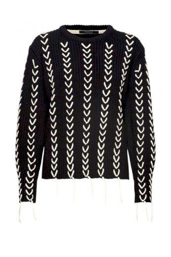 SCOTCH & SODA dámský černý hrubě pletený svetr