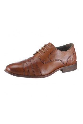 Pánské kožené boty mokasíny šněrovací, Bruno Banani