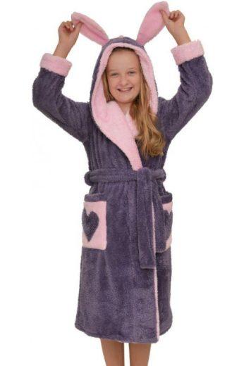 Dívčí župan Emma fialový (vel.140 skladem)