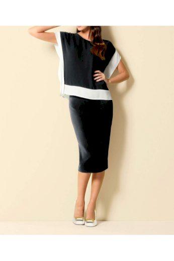 Černá pouzdrová sukně, PATRIZIA DINI (vel.44 skladem)