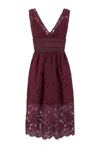 Krajkové šaty Bibba vínové, Y.A.S