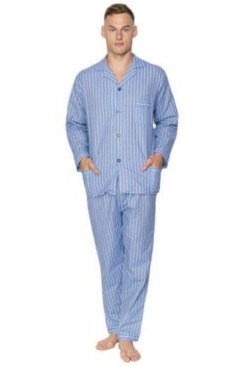 Pánské flanelové pyžamo Arnold modré