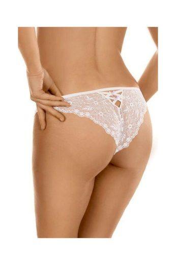 Krajkové kalhotky brazilky 91 bílé