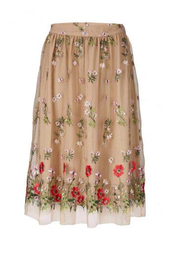 Krásná vyšívaná tylová sukně, HEINE (skladem)