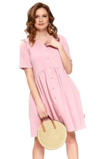 Bavlněné mateřské šaty Anna růžové (vel.S,L skladem)