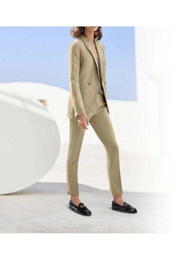 Pískový dámský kalhotový kostým, HEINE