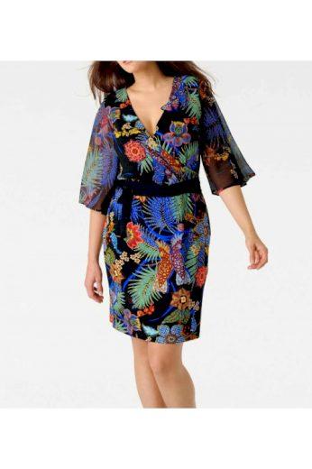Zavinovací šaty s pestrými květy, Rick Cardona