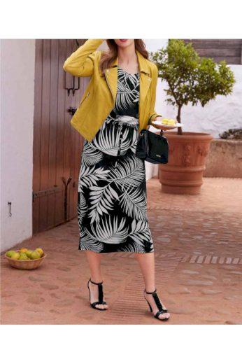Žlutá dámská kožená bunda, HEINE (vel.42 skladem)