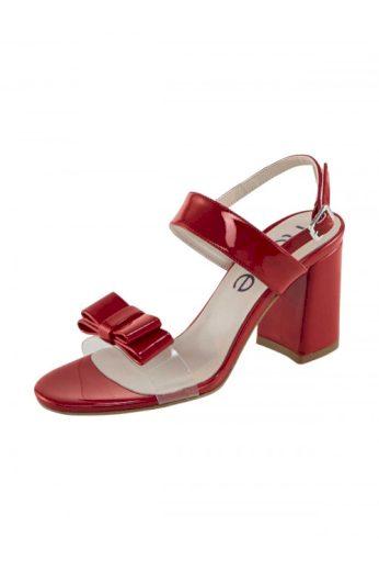 Červené lakované sandálky s mašlí, HEINE (vel.41 skladem)