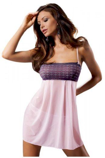 Luxusní košilka a tanga Muna růžová