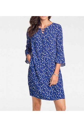 Šaty s potiskem v královské modré, Patrizia Dini