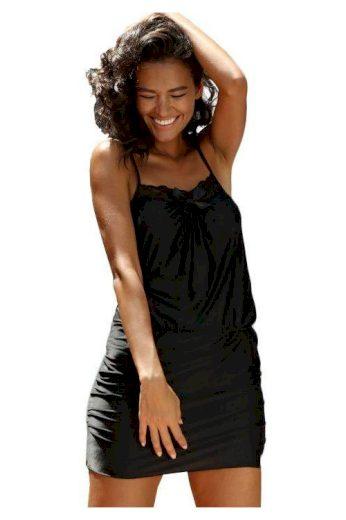 Luxusní dámská noční košile Tabia černá (vel.XL skladem)