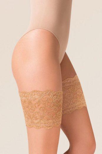 Samodržící Ochranné pásky na stehna krajka béžové (vel.M/L skladem)