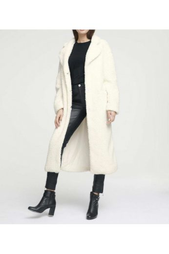 Teddy plyšový kabát HEINE (vel.44 skladem)