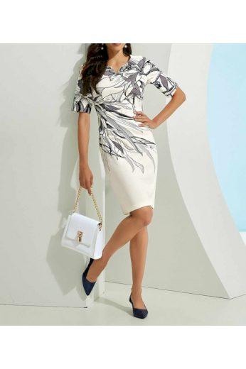 Elegantní pouzdrové šaty z kvalitního žerzeje, Ashley Brooke (vel.34 skladem)