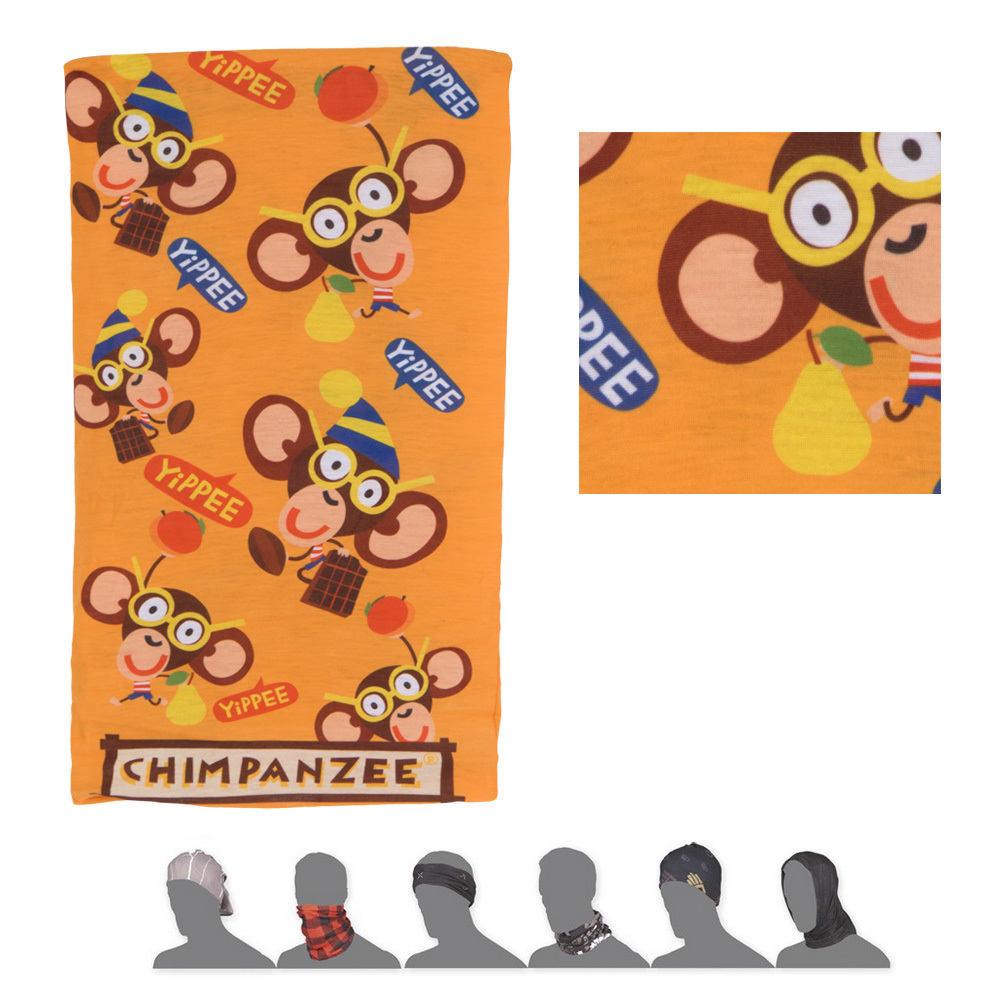 SENSOR TUBE CHIMPANZEE dětský šátek multifunkční žlutá