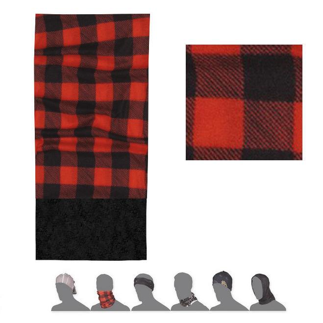 SENSOR TUBE FLEECE SQUARE šátek multifunkční červená/černá