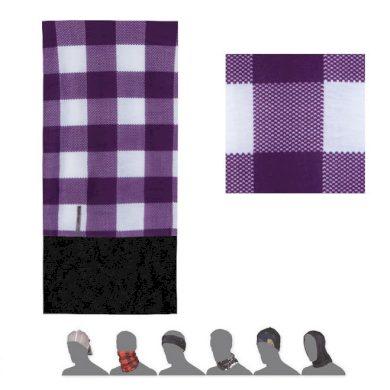 SENSOR TUBE FLEECE SQUARE šátek multifunkční fialová