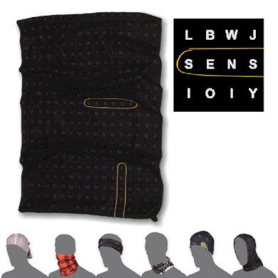 SENSOR TUBE TYPE šátek multifunkční černá