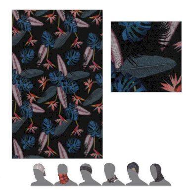 SENSOR TUBE MERINO IMPRESS šátek multifunkční černá/floral