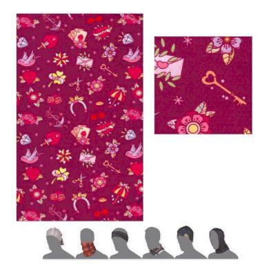 SENSOR TUBE COOLMAX IMPRESS TATTOO dětský šátek multifunkční lilla