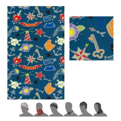 SENSOR TUBE COOLMAX IMPRESS TATTOO dětský šátek multifunkční safír