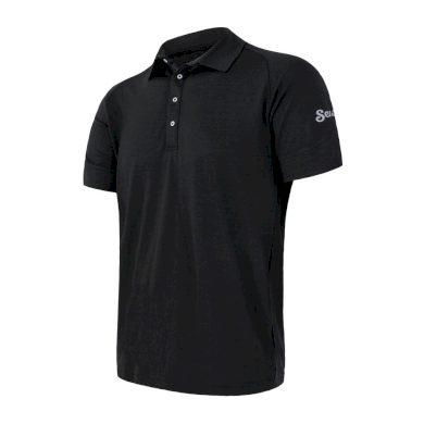 SENSOR MERINO ACTIVE POLO pánské triko kr.rukáv černá